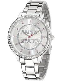 Miss Sixty R0753104501 - Reloj analógico de cuarzo para mujer con correa de acero inoxidable, color plateado