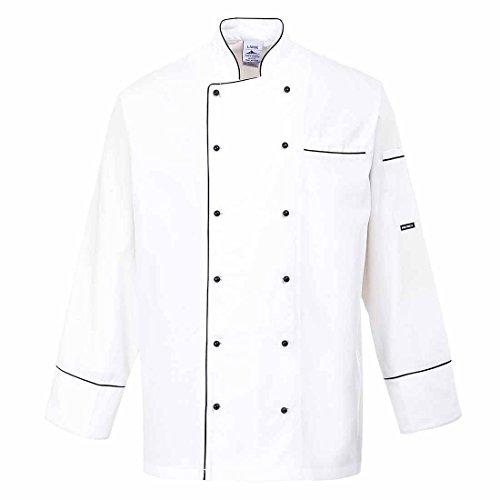 SUW–Cambridge Köche Küche Workwear Jacke, weiß, L