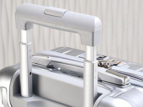Resistent - Verschleiß ABS + PC TSA Passwort Schloss Trolley Fall Aluminium Alu Ruten Starke Lager Koffer Student Gepäck Tasche Weibliche Male Boarding - Box 20/24/26 Zoll ( Farbe : 4 , größe : 20 inc 1