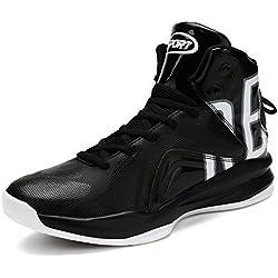 Hombre's Zapatillas de Baloncesto Otoño Nuevo Entrenadores Moda Al Aire Libre Sneaker(Blanco EU42)
