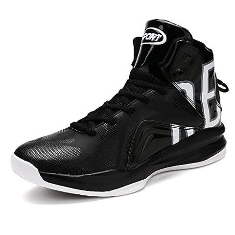 ASHION Herren basketball-shoes Outdoorschuhe Sneaker(BW EU42) (Porzellan Stoff)