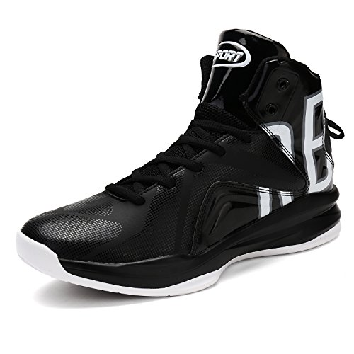ASHION Herren Basketball-Shoes Outdoorschuhe Sneaker(BW EU39) (Leder-kinder-basketball)