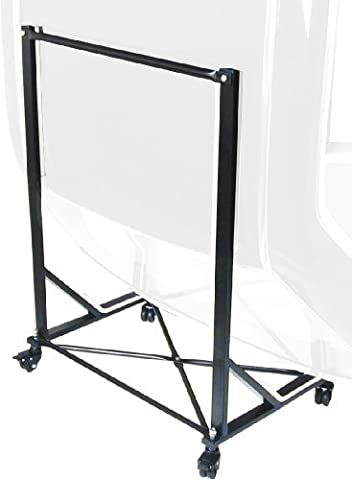 URO Parts TC-107BLACK Black Hard Top Cart/Carrier with Cover by URO Parts