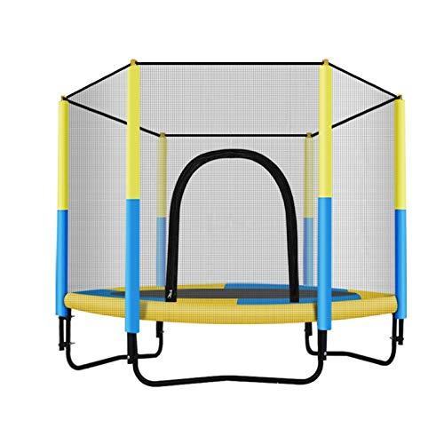 Trampoline Heavy-Duty Indoor/Outdoor Erwachsene Kids 2 Personen-Sprungmatte mit Netz, 200kg / 440 Pfund, 150cm / 59 Zoll gartentrampolin