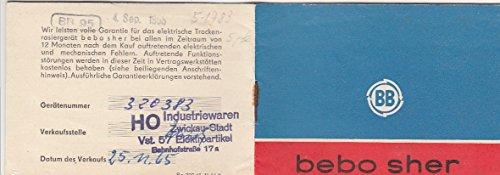 Bedienungsanleitung für bebo sher Rasiergerät BB 95