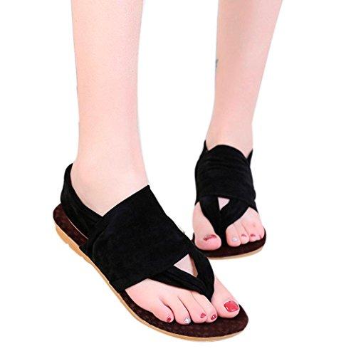 OYSOHE Neueste Sommer Frauen Böhmen Plattform Schuhe Große Größe Frau Wohnungen Schuhe Schuhe Strand Flip Flop Schuhe (Böhmen Stoff)