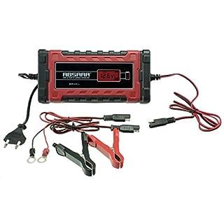 Absaar 158004 Batterieladegerät EVO 4 Lithium 4A, 6/12V, Rot/Schwarz