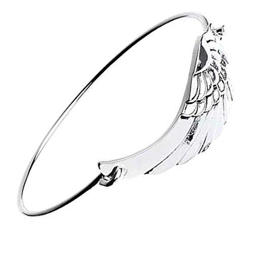 Kostüm Schmuck: Stylische Silber Angel Wing Armreif mit -