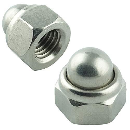 Eisenwaren2000   M6 Sechskant-Hutmuttern selbstsichernd (30 Stück) - DIN 986 - Edelstahl A2 V2A - rostfrei