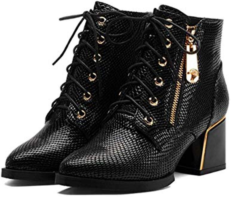 Fuxitoggo Leather Leather Leather First Layer in Pelle da Donna con Stivali, nero-34 (Coloreee   -, Dimensione   -) | Lasciare Che Il Nostro Commodities Andare Per Il Mondo  6ec6cf