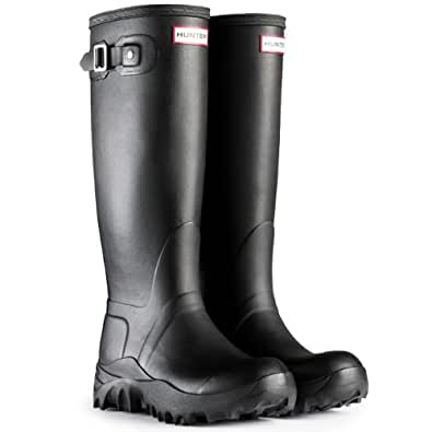 Damen Hunter Schnee Original Tall Winter Festival Gummistiefel Stiefel - Schwarz - 43