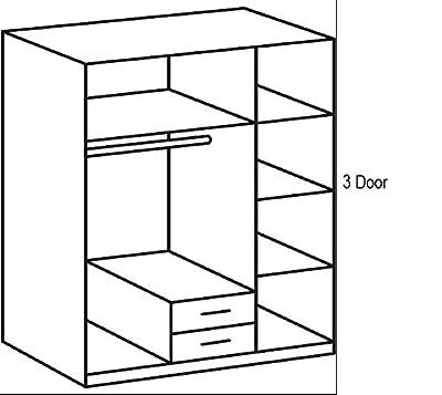 Wardrobe German made 3 door from Wimex 3 Doors in Dark Walnut Sale 7 star Furniture