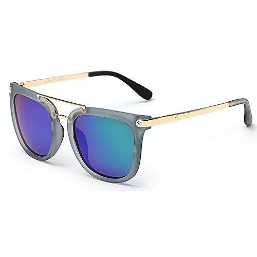 Ppy778 Retro Cat Eye Polarized Sonnenbrille, Reflektierende Fahrbrille, Outdoor-Aktivitäten UV-Schutz (Color : Green)