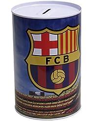 FC BARCELONA® Tirelire metallique avec la forme de l'écusson (et cadenas)