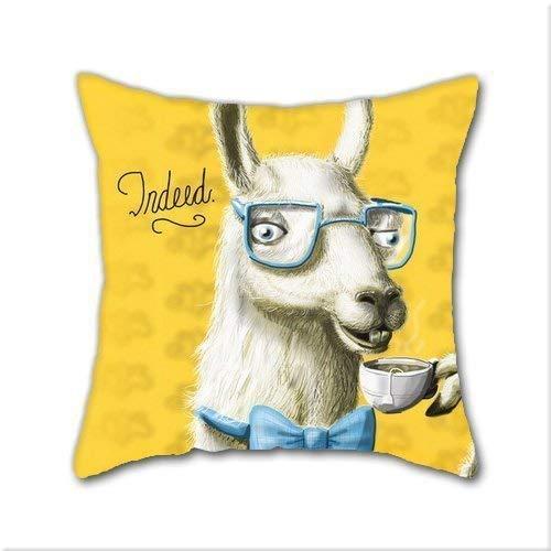 Dress rei Natürliche Baumwolle DIY Dekorative Kissenbezüge, The Fancy Llama Baumwolle Leinen, quadratischer Überwurf, Kissenbezug, Größe: 45 x 45 (Mutterschaft Fancy Dress)
