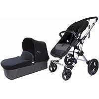 Baby Ace 3011700100013 - Pack con cochecito para bebé Baby Ace 042, base gris + set de invierno, color negro