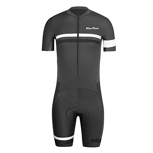 Uglyfrog Sommer Herren Männer MTB Triathlon Radfahren Trikots & Shirts+Trägerhosen Anzüge with Gel Pad Sport Bekleidung ZD10
