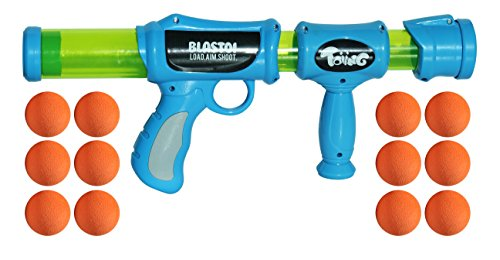Toiing Blastoi - Super-Fun Exciting Air Popper Toy Gun with 12 Soft Foam Bullets; Perfectly Safe for Children