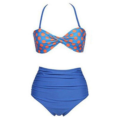 Retro Vintage Talle Alto 2piezas Bikini Bañador bañadores C L