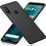 Peakally Cover per Xiaomi Mi A2 Lite in TPU Nero Opaco, Morbido TPU Custodia Cover Slim Custodia Protezione Posteriore Cover Antiurto per...