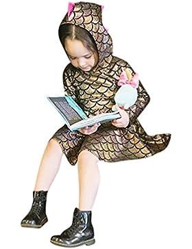 Fuibo Baby Kleidung, [Baby Geschenk] Kleinkind Kinder Baby Mädchen Dinosaurier Langarm Mit Kapuze Kleid Party...
