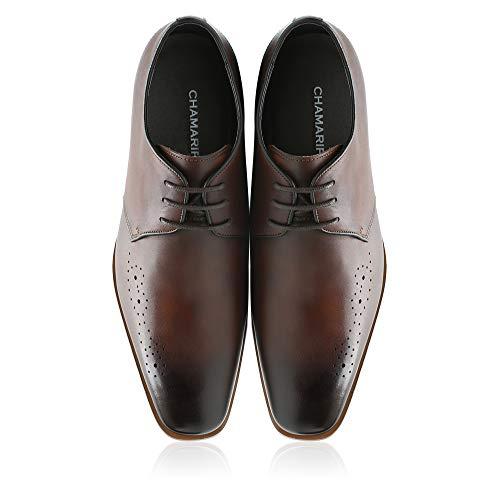 Höhe Erhöhen Schuhe Ferse Heben (CHAMARIPA Aufzug Schuhe High Heel Kleid Schuhe Für Männer Formale Höhe Zunehmende Schuhe Braun 7 cm / 2,76 Inch-H82K65D171D)