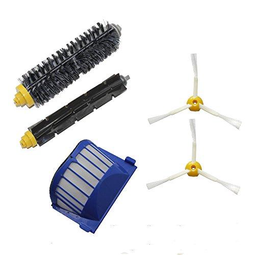 Cambio per iRobot 1 Aero Vac Filter & 1 pennelli di setola e 1 Flexible Beater Brush & 2*3 spazzola laterale armati kit pack Rifornimento Roomba 600 Series (620.630.650.660) Vacuum Robot Nuovo