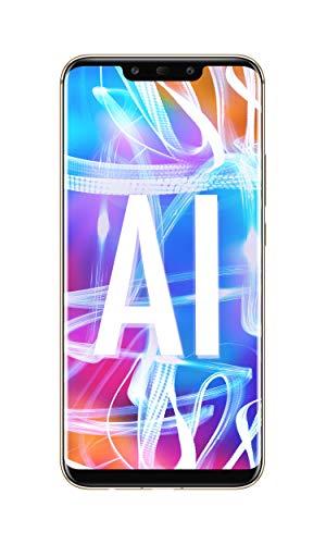 "Huawei Mate 20 Lite (Platinum Gold) más original Black Flip Cover, teléfono con 64 GB, pantalla 6.3 ""Full HD, procesador dinámico Octa Core con inteligencia artificial"