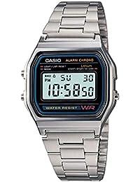Casio A158WA-1DF - Reloj digital de cuarzo para hombre con correa de metal,