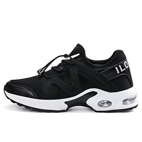 Chaussures De Sport Pour Hommes Chaussures Confortable Respirant Weave Women's Lightweight Outdoor Chaussures De Course Noir