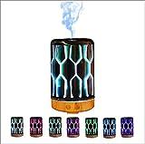 Jackeylove Diffuseur d'huiles essentielles ultrasonique 100ml réglable Cool Mist Waterless Auto arrêt et 7 Couleur LED humidificateur