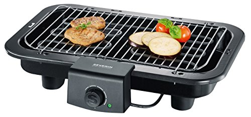SEVERIN Gril Barbecue, Gril de table, Surface du Gril (41x26cm), 2.500W, PG 8518, Noir