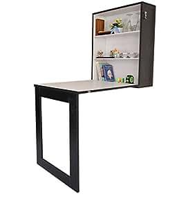 Invisible Bed Futur Decor Multipurpose Designer Foldable Study Desk Invisible Bed Table (Black Color)