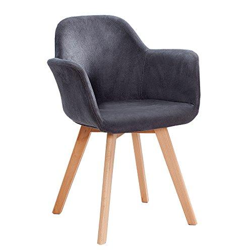 Invicta Interior Exklusiver Stuhl KOPENHAGEN mit Armlehne Buche Gestell antik grau Armlehnenstuhl Esszimmerstuhl