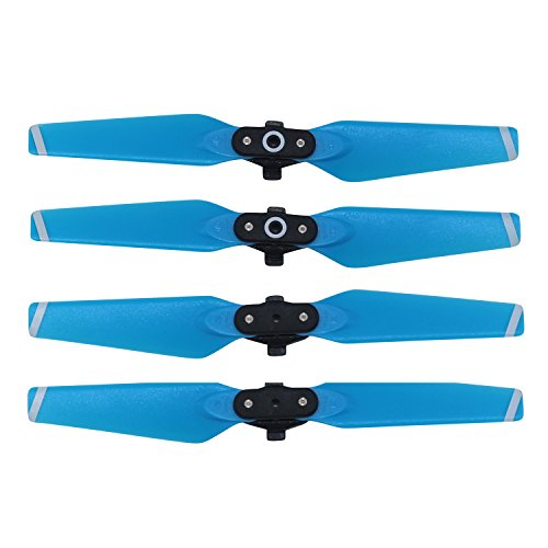 PENIVO Color propeller for Spark, 2 pairs 4730 F 2CW + 2CCW Quick release folding props Blade propellers for DJI Spark Drone accessories (Blue)