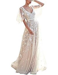 7ecc68588723 Amazon.it  abito da sposa corto - Vestiti   Donna  Abbigliamento