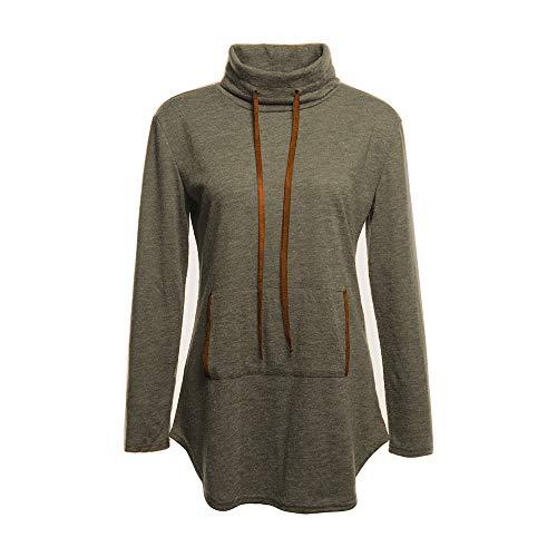 UJUNAOR Damen Herbst Winter Langarmhemd Lässig Pullover mit -
