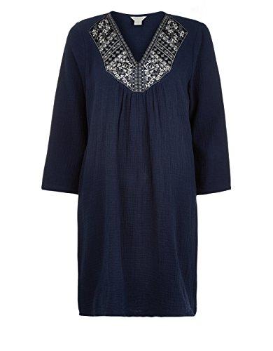 Monsoon Tunique joliment décorée Suri - Femme Bleu Marine