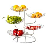 generp panier a fruits a etages en métal,5 étages countertop corbeille à fruits support et