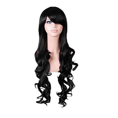 - Schwarz Curly Perücken Halloween