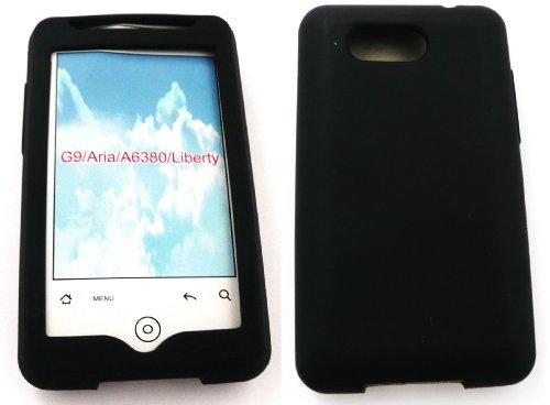 Emartbuy Htc Aria Silicon Case / Cover / Skin Schwarz