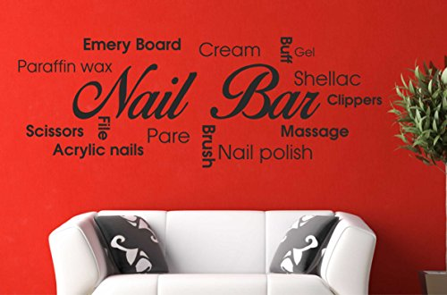Nail Bar Collage Wall Art Picture Quote Sticker Hair Beauty Salon Manicure 580mm X 210mm Buy Online In India At Desertcart In Productid 50439796