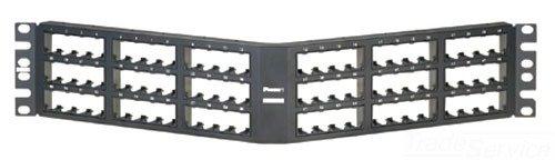 Panduit cppa72fmwbly abgewinkelt High-Density 72-port Unterputz Patch Panel, schwarz Flush Patch Panel