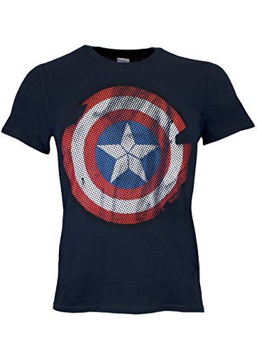 Capitan America - Maglietta a maniche corta per uomo - Medium