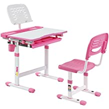 Alex Daisy Pluto Kids Height Adjustable Study Table & Chair Set - Pink