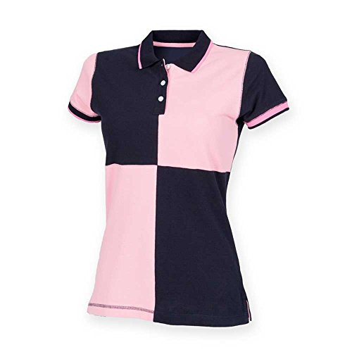 Front RowHerren Poloshirt Mehrfarbig - Navy/ Pink