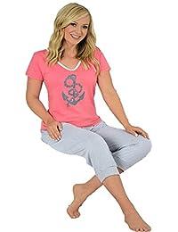Damen Pyjama ,100% Baumwolle Öko-Tex Standard 100