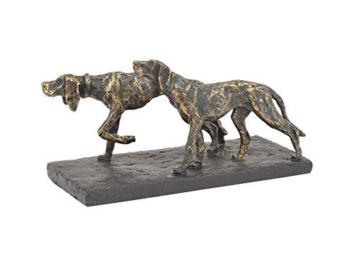 Artisanti Pointer Hunde Jagd Skulptur in Bronze-Finish