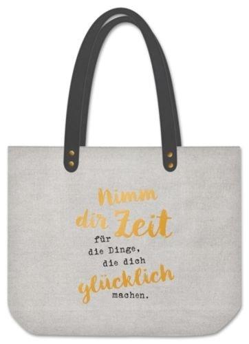 Grafik Werkstatt Shopper Nimm dir Zeit Sporttasche, 48 cm, Grau