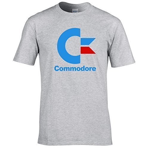 Commodore 80s Logo T-shirt for Men - Many Colours - S to XXL